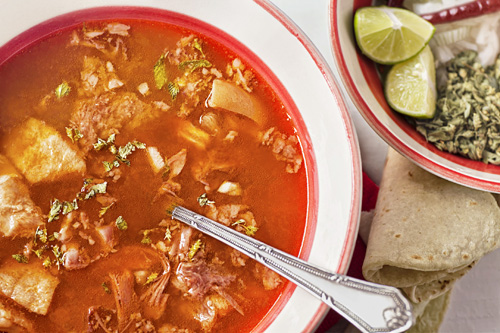 The Red Menudo served with more ingredients
